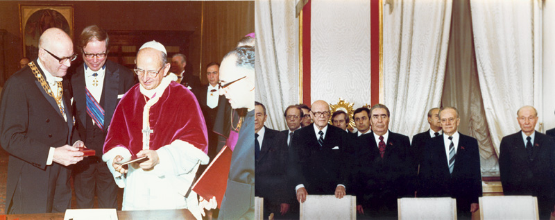 Kekkonen Vatikaanissa 1971